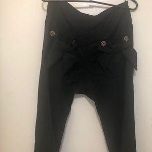 Sara Berman Large flare leg Black Pants Wool